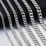 Load image into Gallery viewer, Stainless Steel Cuban Chain Waterproof Necklace - monaveli -  - Stainless Steel Cuban Chain Waterproof Necklace - mymonaveli.com