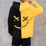Load image into Gallery viewer, Men Smile Hoodies 2019 Winter Hip Hop Print Oversized Sweatshirts Fashion Patchwork Unisex Couple Streetwear Men Women Hoodies -  - monaveli - monaveli