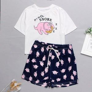 Women's Sleepwear Cute Cartoon Print Short Set Pajamas for Women  Pajama Set Sweet Short Sleeve T Shirts & Shorts Summer Pijama -  - monaveli - monaveli
