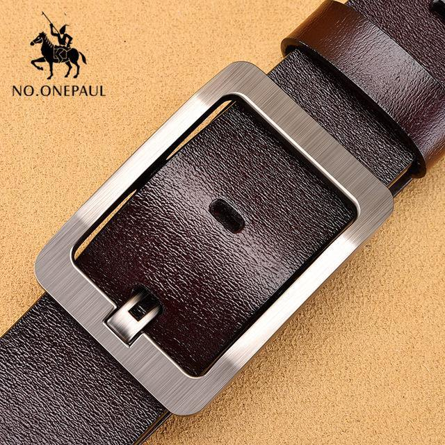 NO.ONEPAUL cow genuine leather luxury strap male belts for men new fashion classice vintage pin buckle men belt High Quality -  - monaveli - monaveli
