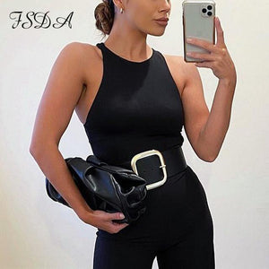FSDA O Neck Summer Sleeveless Sexy Bodysuit Women 2020 Off Shoulder Body Tops Streetwear Casual White Bodysuits -  - monaveli - monaveli