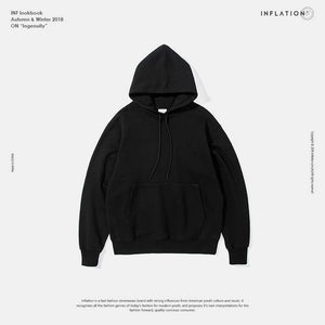 INFLATION 2020 Autumn Mens Thick Fleece Hoodies Hip Hop Pure Hoodies Thick Velvet Fabrics Winter Hoodies For Men Women 167W17 -  - monaveli - monaveli