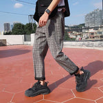 Load image into Gallery viewer, LAPPSTER Streetwear Yellow Plaid Pants Men Joggers 2020 Man Casual Straight Harem Pants Men Korean Hip Hop Track Pants Plus Size -  - monaveli - monaveli