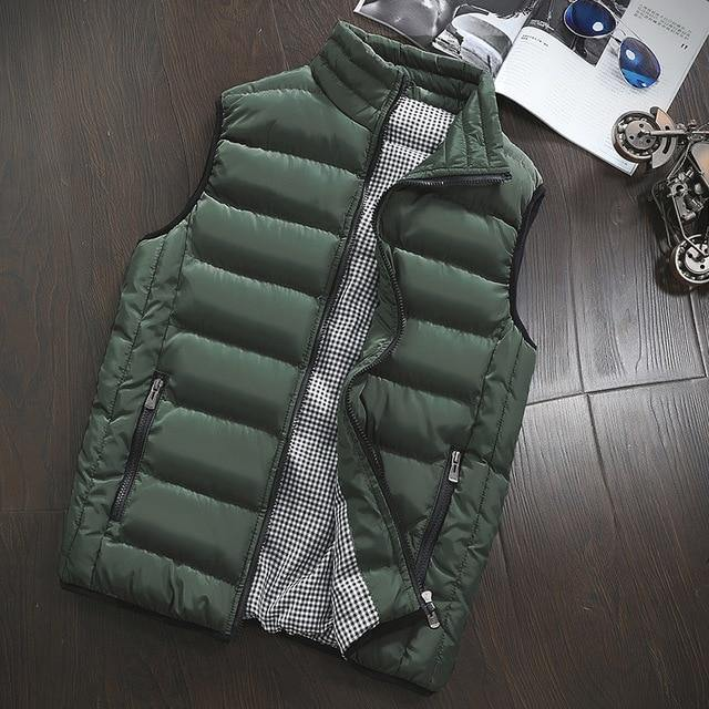 Brand Clothing Vest Jacket Mens New Autumn Warm Sleeveless Jacket Male Winter Casual Waistcoat Men Vest Plus Size Veste Homme -  - monaveli - monaveli