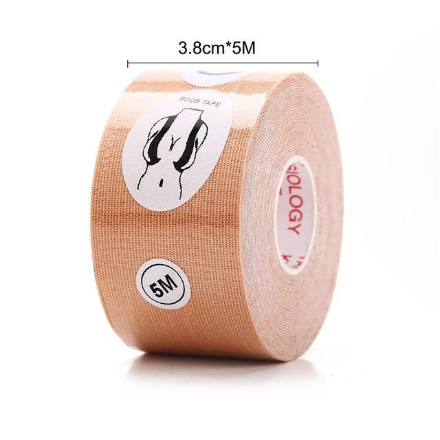 Dropshipping 5M Body Invisible Bra Women Boob Tape Nipple Cover DIY Breast Lift Tape Push Up Sticky Bra Lift Up Boob Tape 1 Roll -  - monaveli - monaveli