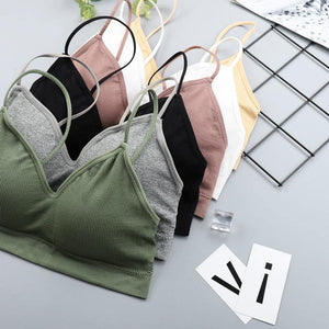 CHRLEISURE Elastic Gathering Bralette Push Up Bra Summer Anti-light Korean Style Wild Bra Tube Top Sexy No Rims Bra -  - monaveli - monaveli