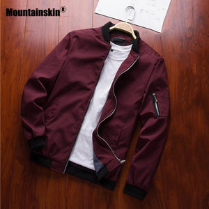 Mountainskin 2019 Mens Jackets Spring Autumn Casual Coats Bomber Jacket Slim Fashion Male Outwear Mens Brand Clothing 6XL SA585 -  - monaveli - monaveli