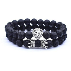 Luxury Vintage Lion Head Crown Charm Bracelet