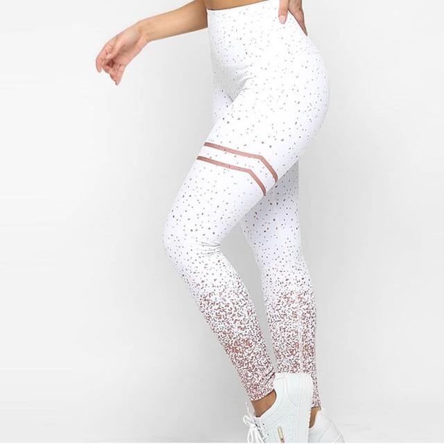 NORMOV New Hotsale Women Gold Print Leggings No Transparent Exercise Fitness Leggings Push Up Workout Female Pants -  - monaveli - monaveli