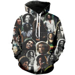 Load image into Gallery viewer, PLstar Cosmos HipHop Reggae Bob Marley Tracksuit Streetwear Unisex New Fashion Pullover 3DPrint Long sleeve Hoodies/Jacket A-4 -  - monaveli - monaveli