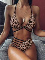 Load image into Gallery viewer, Women's Leopard Print Bikini -  - monaveli - monaveli