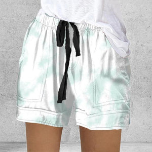 Women's Short Summer Loose Rope Tie Short Sport Shorts Casual Elastic Waist Cotton Linen Shorts pink Pocket Beach Sport Shorts -  - monaveli - monaveli