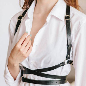 Leather Leg Garter Body Strap Harness Belt Bridal Garters Belts For Women's Lingerie Sex Body Sexy Costumes Suspender Erotic -  - monaveli - monaveli