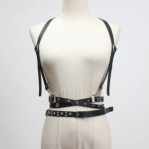 [EAM]  Pu Leather Buckle Rivet Split Long Wide Strap Belt Personality Women New Fashion Tide All-match Spring 2020 1S922 -  - monaveli - monaveli