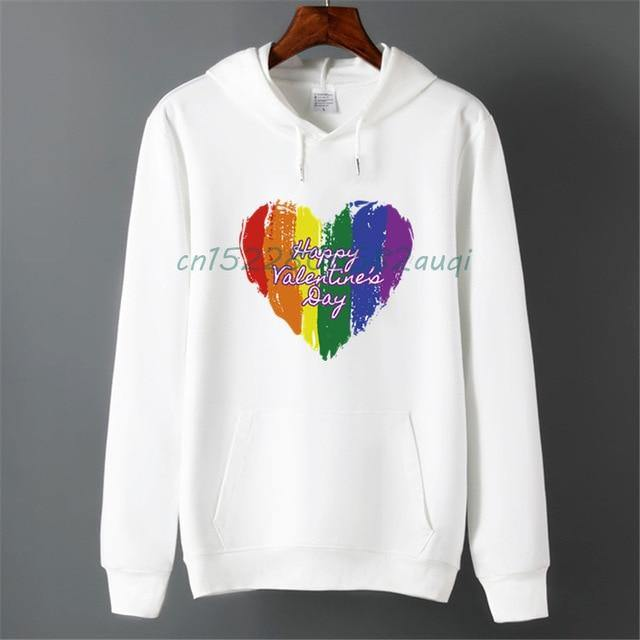 Men Pride Lgbt Gay Love Lesbian Rainbow Fleece Hoodies Sweatshirts Unisex Winter Harajuku Love is Love Sweatshirts Hoodies -  - monaveli - monaveli