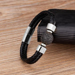 Load image into Gallery viewer, Punk Leather Men's Bracelet
