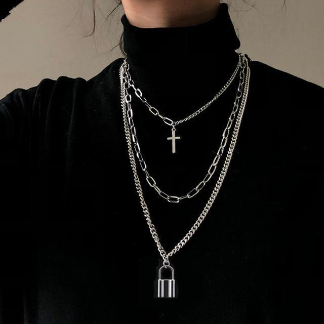 Fashion Hip Hop Long Chain Necklace Jewelry - monaveli -  - Fashion Hip Hop Long Chain Necklace Jewelry - mymonaveli.com