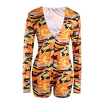 Load image into Gallery viewer, Women's Bodycon Romper Pajamas