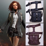 Load image into Gallery viewer, PUBG cosplay Leg bag pockets leather PU Playerunknown's Battlegrounds Props Waist Bag PU Chicken Dinner -  - monaveli - monaveli