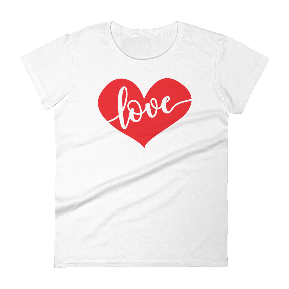Love Heart Womens Tee