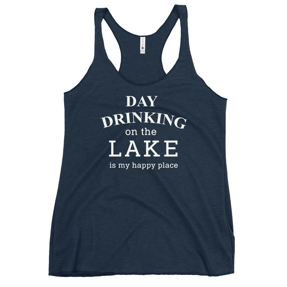 Day Drinking On The Lake Racerback Tank