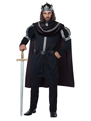 California Costumes Men's Plus-size Dark Monarch - Adult Plus Men Costume Adult Costume, -black/Silver, Plus