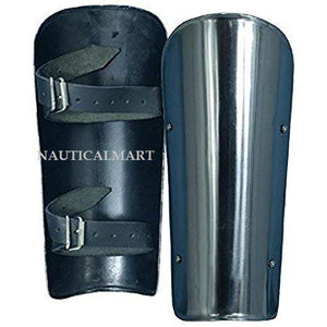 NauticalMart Arm Armor Knight Battle Ready Steel Arm Bracers One Size Fit All - Silver Armour