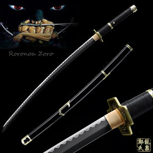 Hand forged 1045 Carbon Steel For Japanese Anime One Piece Yubashiri Katana Full Tang Sharp Roronoa Zoro Sword
