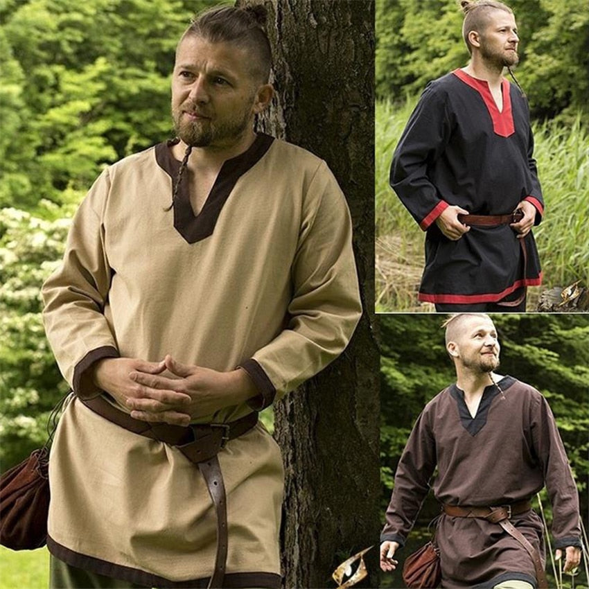Viking Long Sleeve Loose Robe Tunic
