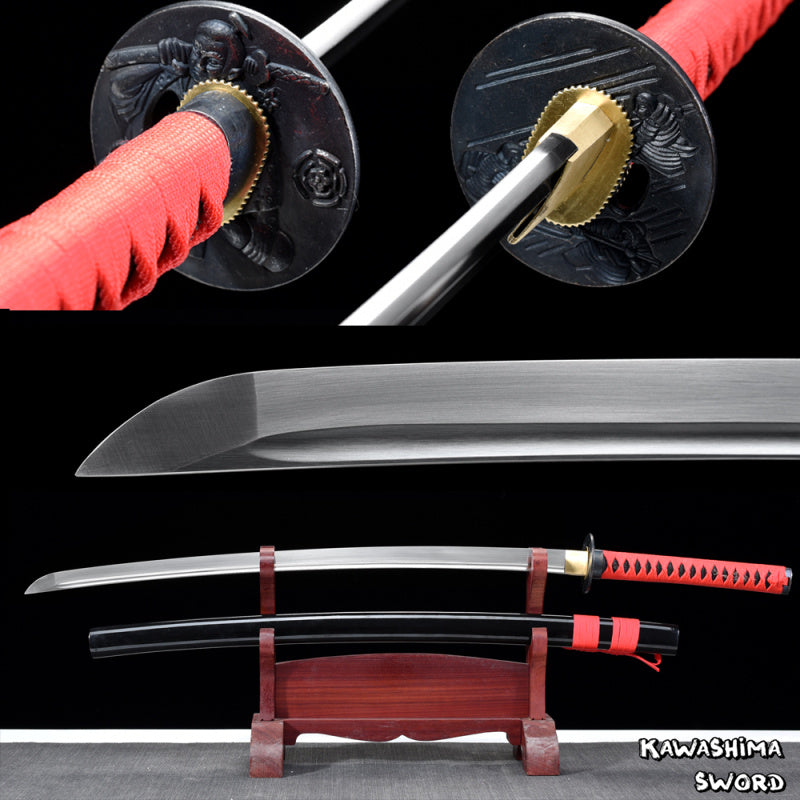 41Inches-Real Samurai Sword 1060 High Carbon Steel Full Tang Sharpness Ready For Cutting-Japanese Katana-Red
