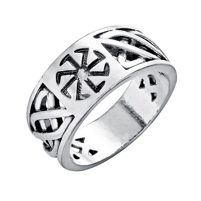Kinitial Retro Armor Shield Sword Rings Knight Templar Crusade Cross Ring Medieval Signet Ring Vintage Men Amulet Jewelry