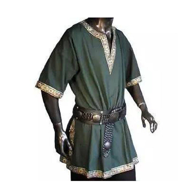 5 Colors Adult Men Medieval Renaissance Viking Warrior Knight Costume Tunic Top Shirt Army Pirate Cos Clothing For Men Plus Size