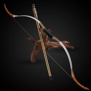 25-50IbArchery Hunting Recurve Bow Traditional Longbow Professional Sports Shooting Laminated Horsebow Cowhide Riser Bow Outdoor