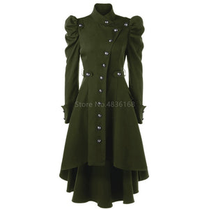 Medieval Costume Steampunk Jacket Overcoat