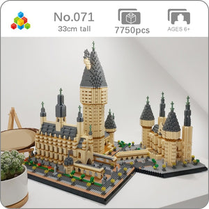 YZ 071 World Famous Architecture Medieval Castle College 3D Model DIY 7750pcs Mini Building Diamond Small Blocks Toy no Box