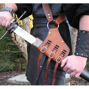 Medieval Shoulder Strap Sword Holder Sheath Scabbard Frog Adult Men Larp Knight Weapon Costume Gear Rapier Ring Belt Holster