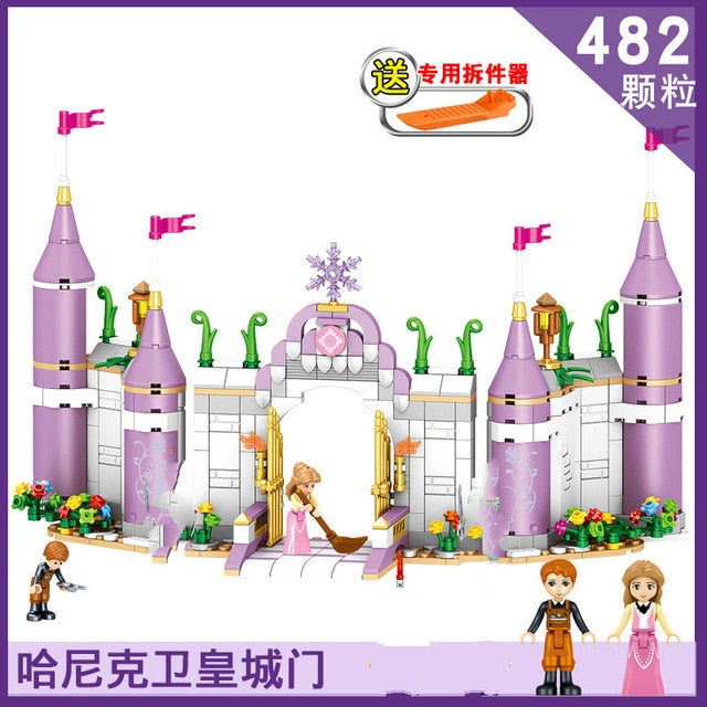 Medieval Castle Blocks Figures Knights Crusaders Soldier Rome Spartacus Warrior Pirates Caribbean Pirate Ship Model Bricks Toys