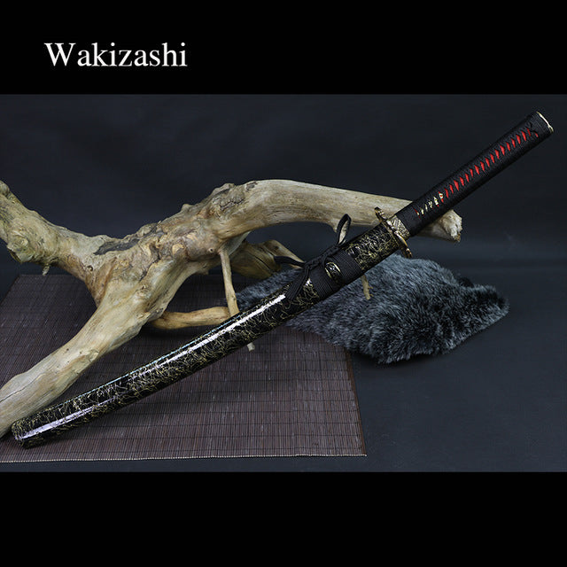 Tanto/Wakizashi/Katana Real Japanese Samurai Swords 9260 carbon steel Handforged blade full tang  New arrival