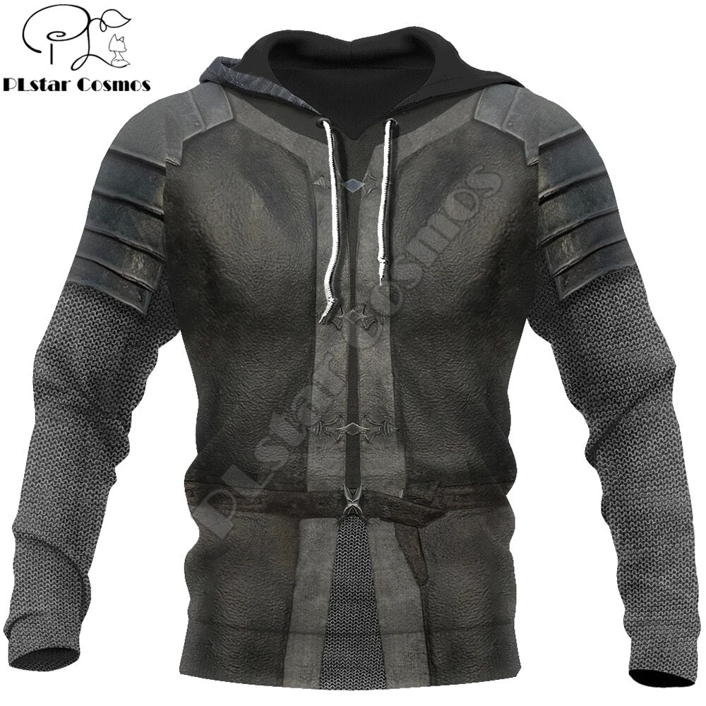 Knight Medieval Armor Men Hoodie Knights Templar Harajuku Fashion Jacket pullover