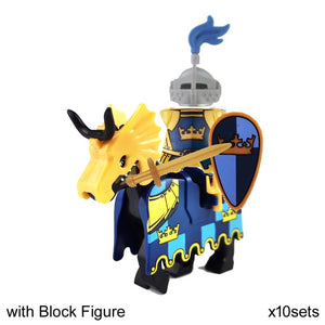 Dragoon Castle Cavalryman Heroic Knight Dragon Knights with Armor Rome Cavalry Warrior Building Block doll General Bodyguard
