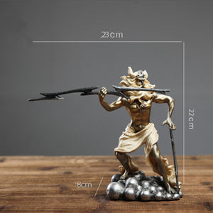 Goddess Of Justice Knights Warrior Soldier Venus Goddess Statue Medieval Resin Crafts Retro Home Decoration R01