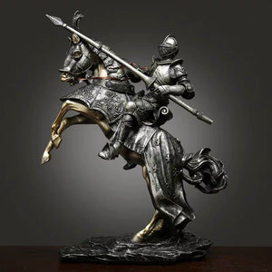 European Knight Armor Statue