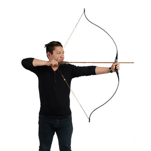 Toparchery 25-45 Ibs Hunting Bow For Shooting Archery Target Shooting Recurve Bow Traditional Longbow Outdoor