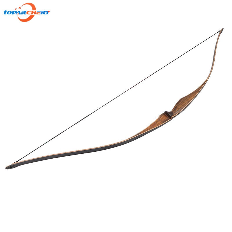 Handmade Traditional Recurve Bow Longbow 20lbs 25lbs 52'' Laminated Wooden Long Bow for Bamboo Arrow Field Hunting Practice Game