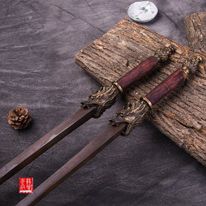 Sword breaker Antique Ming steel double mace