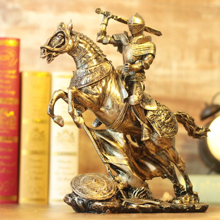 Medieval vintage resin figurine,Knights,Warrior,Soldier,Treasure Box,Goddess of justice,Venus goddess,figure sculpture, statue