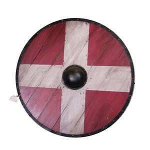 Medieval wooden round shield living room bar restaurant wall decoration European creative retro wall decoration new