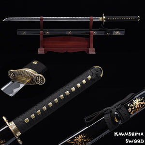 Ninja Sword Handforged 1045 High Carbon Steel Full Tang  Blade Japanese Katana Zinc Alloy Guard Sharp Ready-2019 New Arrival