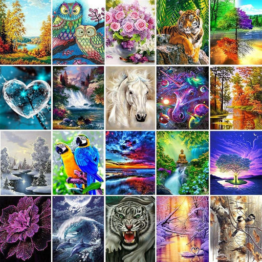 ColorFul Landscape And Animals Diamond Kits