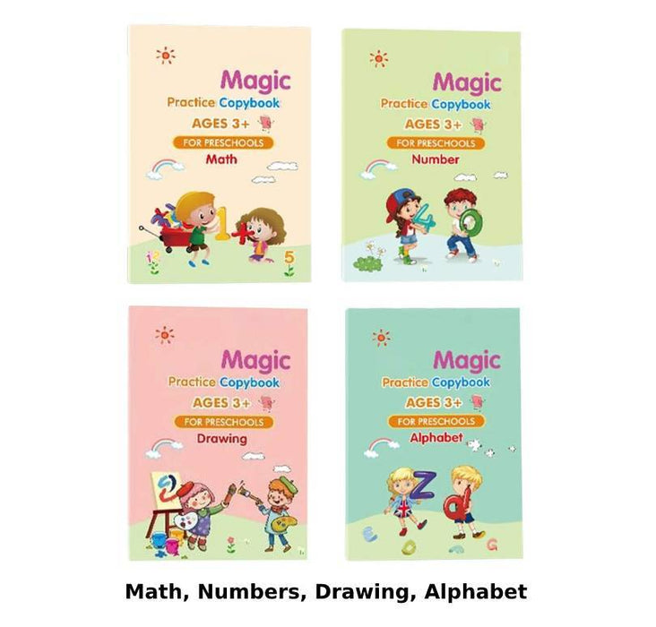 4 Magic Practice Copybook For Kids (50% Off)
